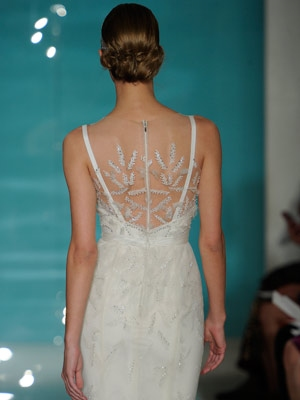 Embellished sheer backs