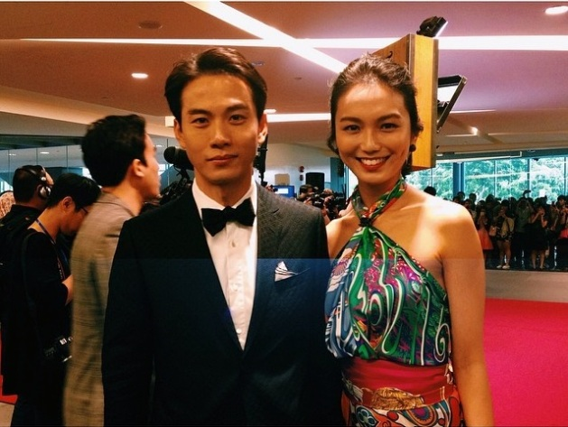 Joanne Peh wears an outfit made out of 4 Hermes scarves