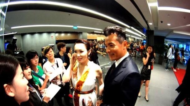Fann Wong wears flat stunning Bottega Venetta gown